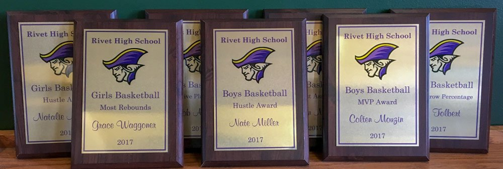 Sublimated Plaques