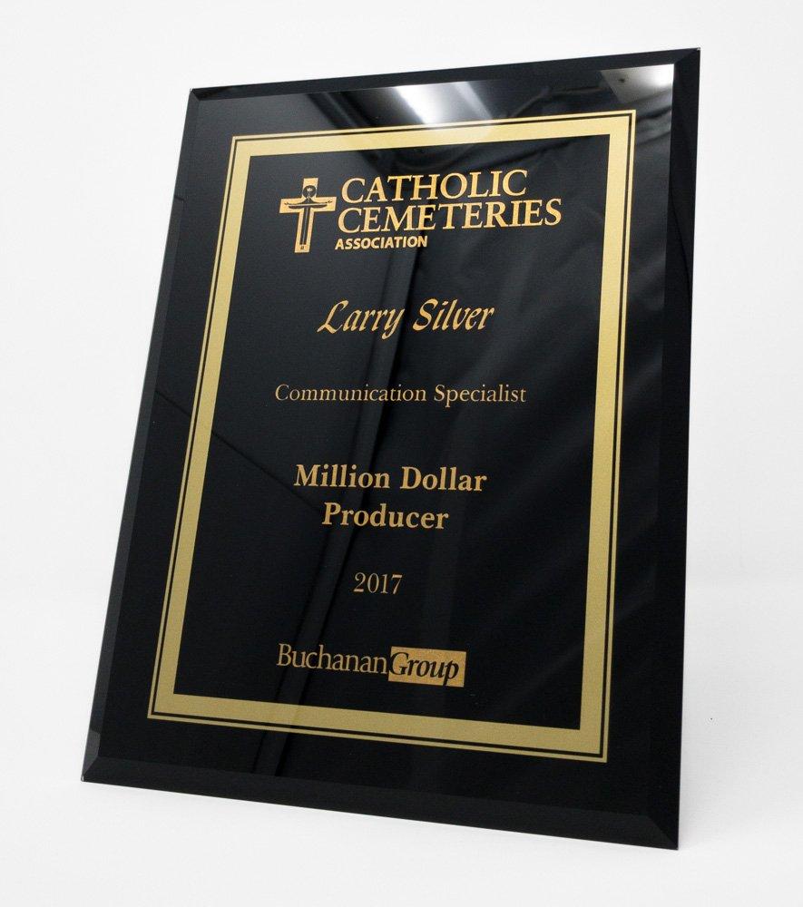 Laser Engraved Black and Gold Plaque