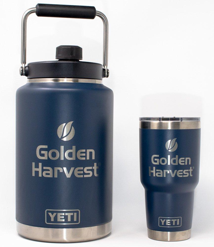 Golden Harvest Yetis Laser Engraved