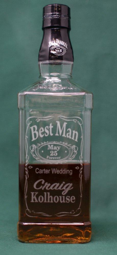 Laser Engraved Wedding Gifts, Best Man Whiskey Bottle