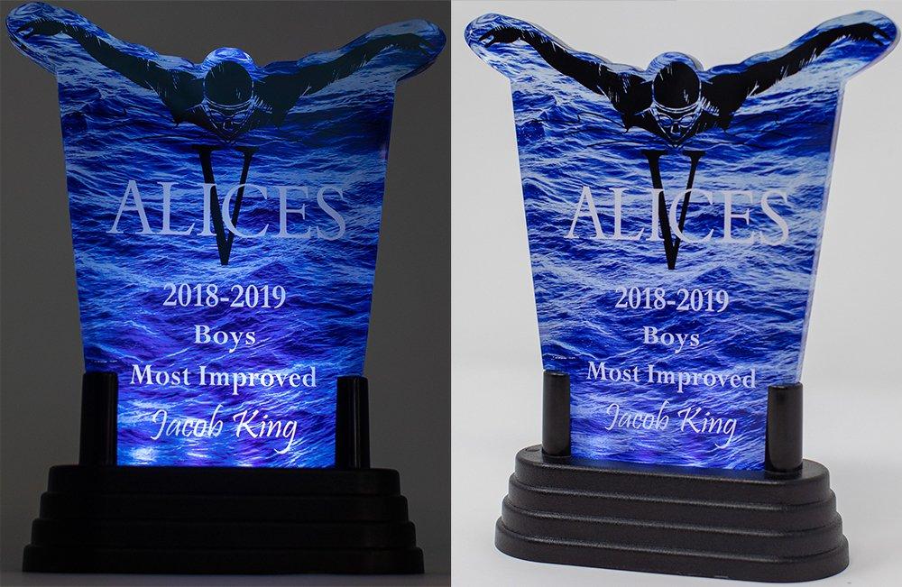 Vincennes Lincoln Alices Swim Team Custom Lighted Acrylic Award