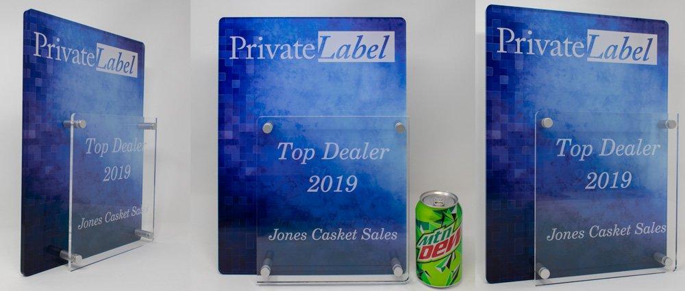 Custom Top Dealer Acrylic Plaque