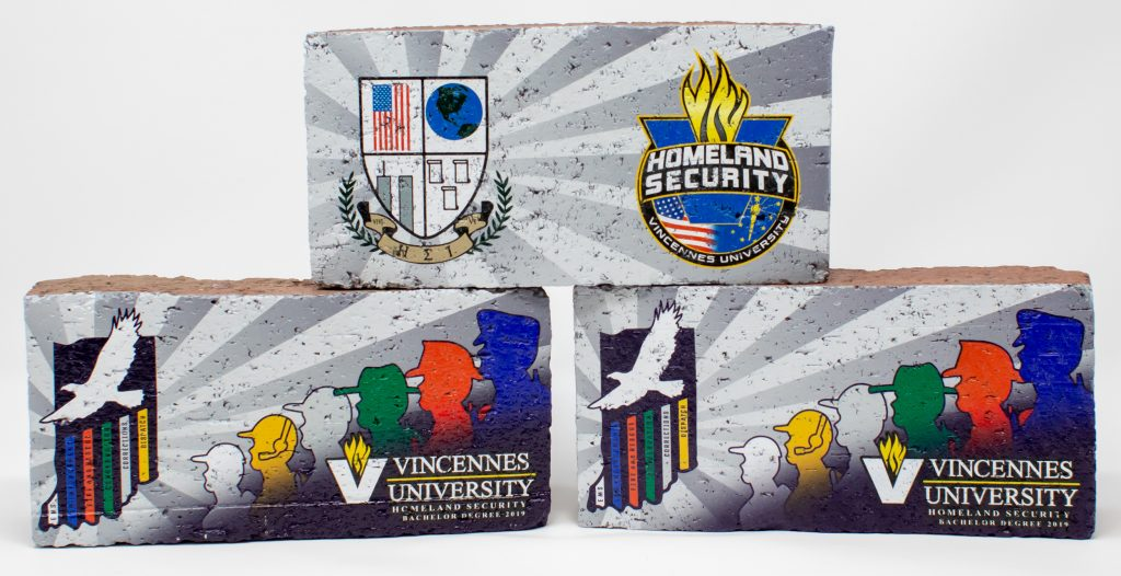 Color Printed Bricks for Vincennes University Department of Homeland Security