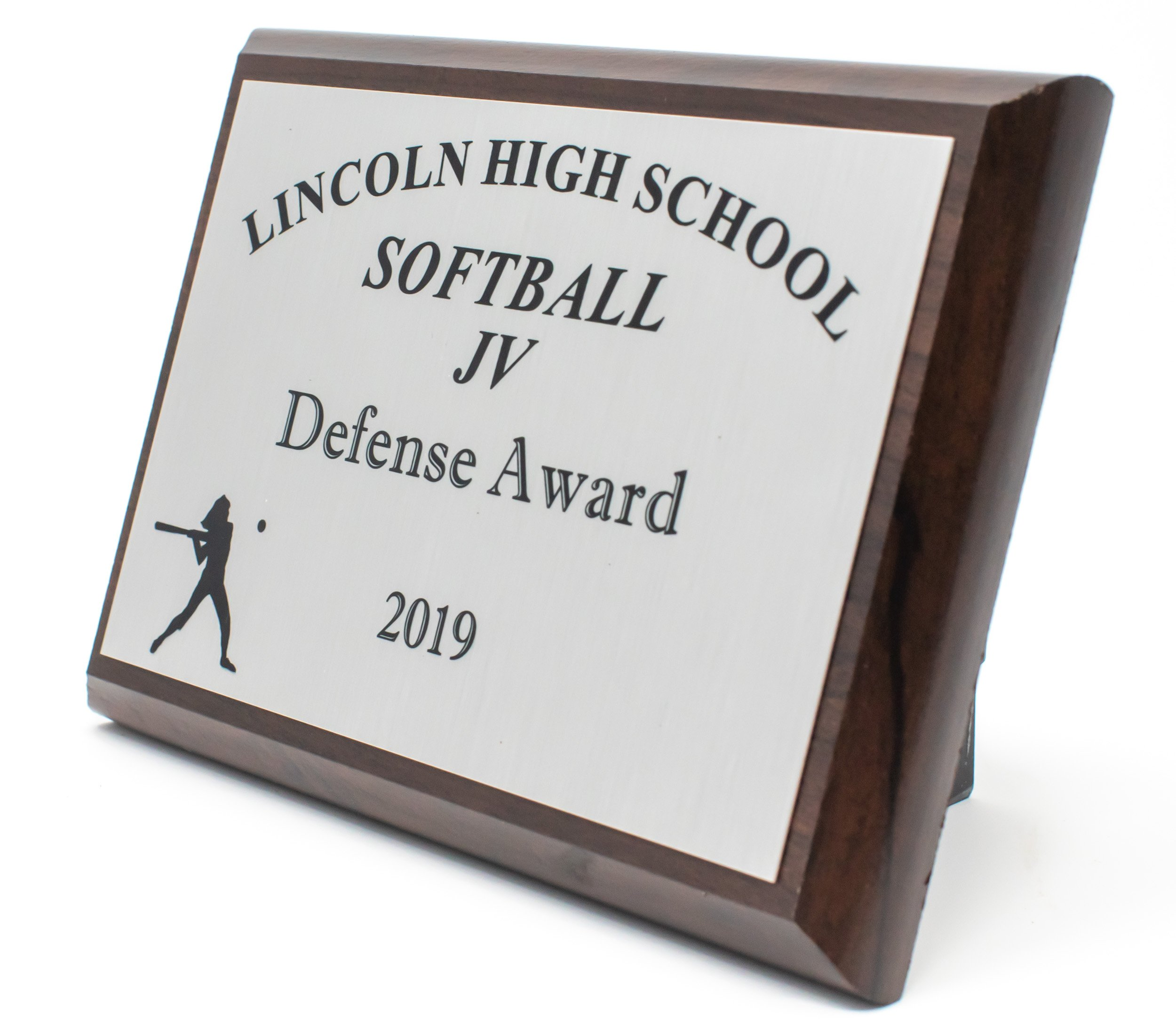 Lincoln High School JV Softball Plaque