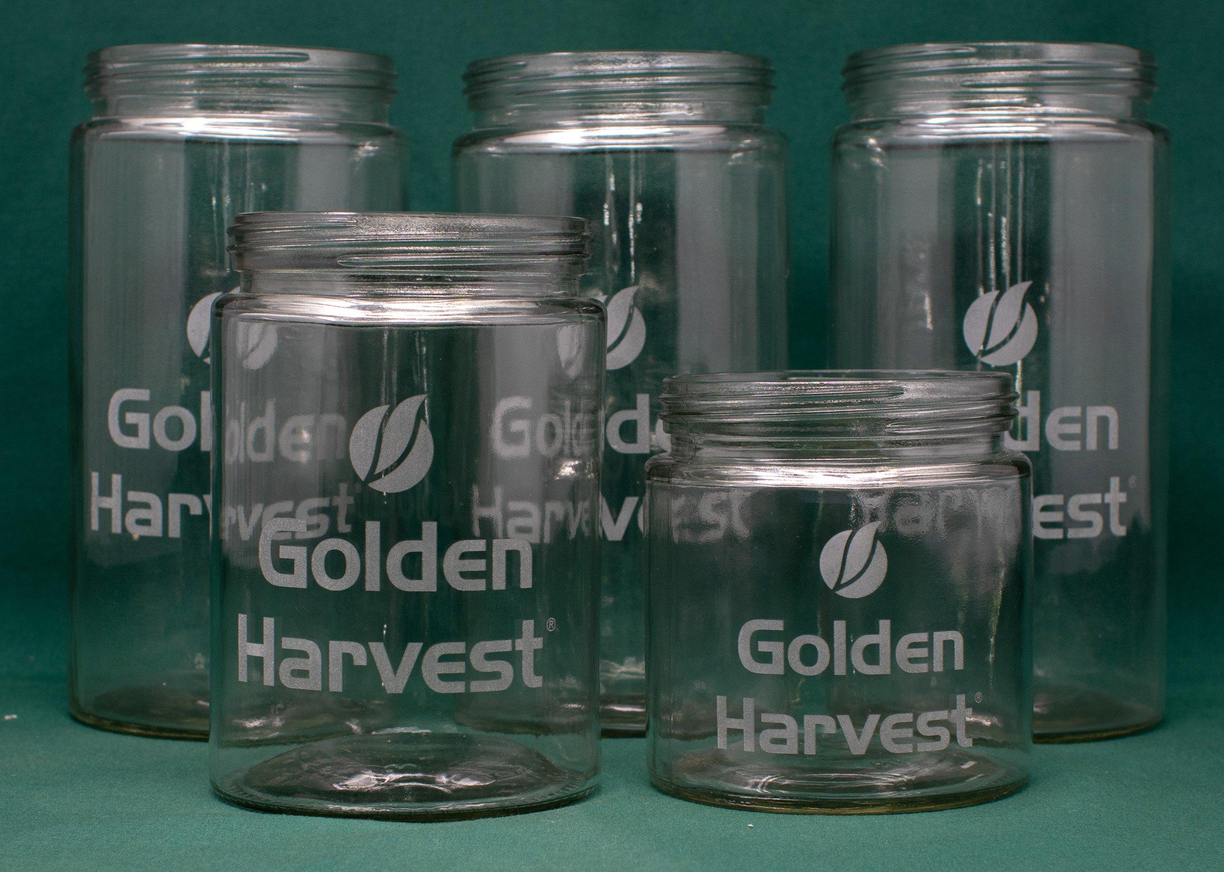 Laser Engraved Glass Jars